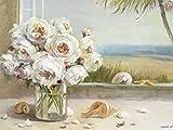 Artland Kunstdruck I Poster Danhui Nai Küsten Rosen II Botanik Blumen Rose Malerei Weiß B2NM