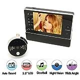 BW 3.5 Zoll LCD-Monitor-Digital-Peephole-Tür-Projektor-Kamera mit Türklingel-Funktion für inländisches Wertpapier, 120 Grad Weitwinkel