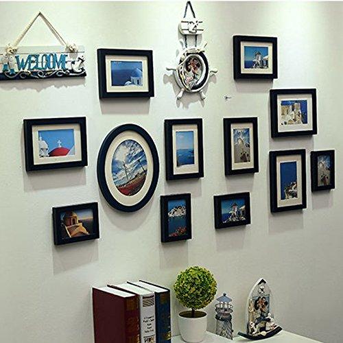 X&L Mittelmeer Europäische Classic Foto Wand kreativ Home Dekoration Handarbeit Holz Foto , deep blue - 2