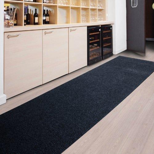 Floori Küchenläufer | strapazierfähiger Teppich Läufer für Küche, Flur uvm. | Teppichläufer / Flurläufer in vielen Größen und Farben | anthrazit