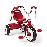 QXMEI Triciclo Infantil Plegable Niño Triciclo Pedal Niño Cochecito de 1 A 6 Años De Edad,Red