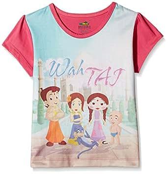 Chhota Bheem Girls' T-Shirt (GGAPP-CB414A_Multicolor_2-3 Years)