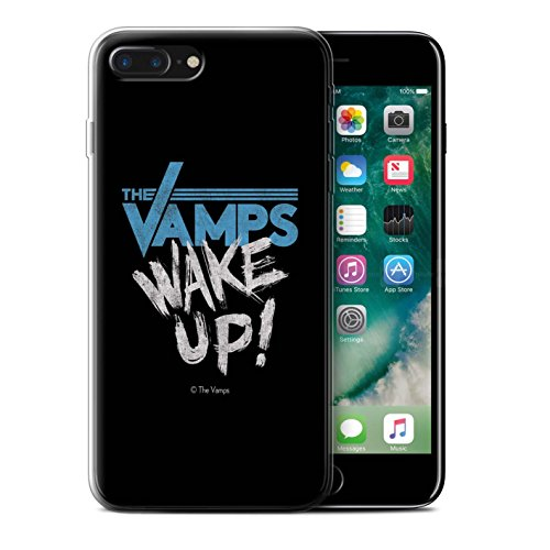 Offiziell The Vamps Hülle / Gel TPU Case für Apple iPhone 7 Plus / Aufwachen! Muster / The Vamps Graffiti Band Logo Kollektion Aufwachen!