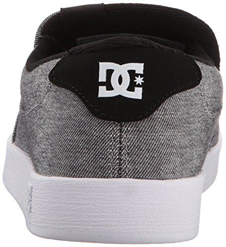 DC Shoes Men's Villain Slip-On Low Top Shoes Grey Ash