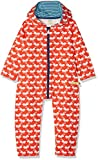 loud + proud Unisex Baby Strampler Outdooroverall, Orange (Sunrise Su), 80 (Herstellergröße: 74/80)