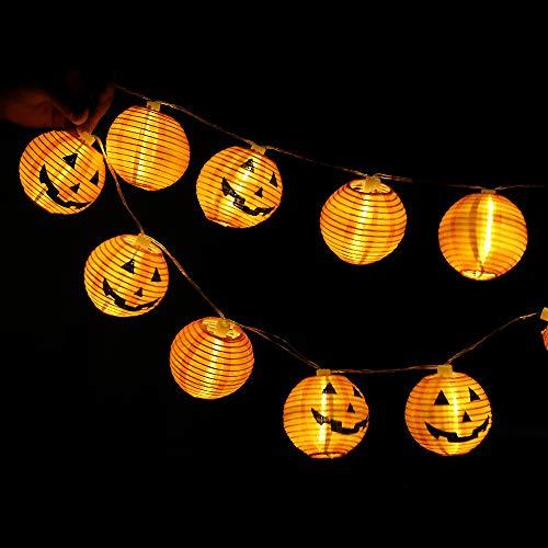 Outdoor Lichter, 20 LED Perlen Gaddrt Kürbis Lichterketten Halloween Deko Lichterketten Outdoor dekorative Lichter, Gartenleuchten,Mitgliedschaft Festival Dekoration (Gelb)