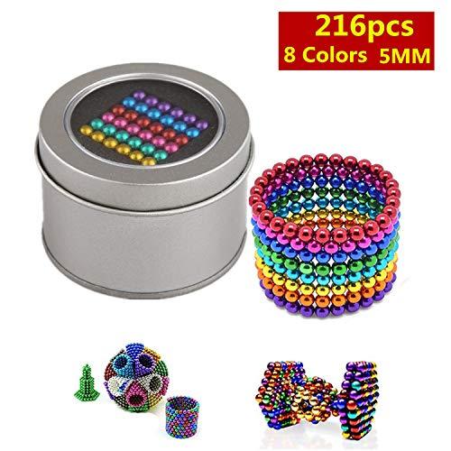 Yetech mágica Bola pequeña Cubo presión Regalo Entretenimiento Alivio del estrés y Desarrollo de Inteligencia para niños y Adultos(Multi 8 Colores, 216, 5 mm)