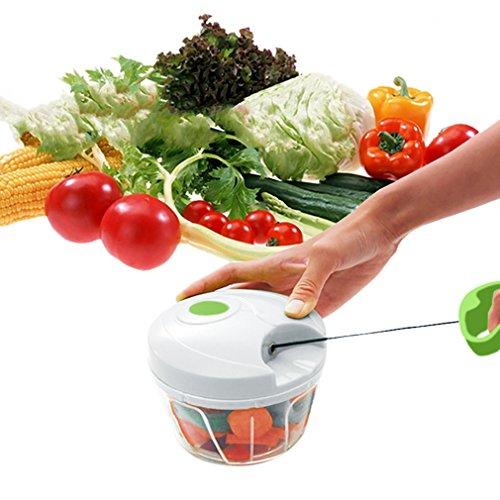 Manual Food Chopper Obst Gemüseschneider Zerkleinerer Compact Hand-Powered Chop Obst, Gemüse, Nüsse, Kräuter, Pesto,Nuts,Herbs,Coleslaw Chopper Fleischwolf Blender - Hmjunboys (Chopper Und Blender)