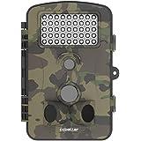 CCbetter - Cámara de vigilancia IP54 para caza de 12MP 1080P HD 120 grados de ángulo y 42 piezas LED para visión nocturna, Camo verde