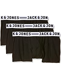 JACK & JONES Herren Boxershorts Sense Trunks 3-Pack Noos, 3