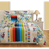 Swayam White Colour Fitted Double Bed Sheet With Pillow Covers