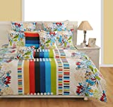 #5: Swayam White Colour Fitted Double Bed Sheet with Pillow Covers