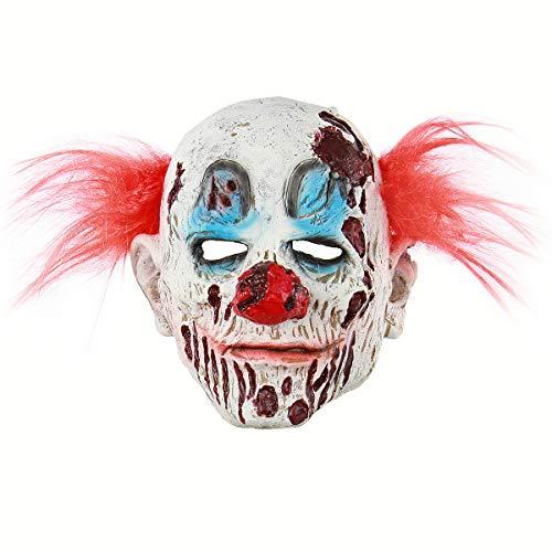 BESTOYARD Halloween Maske Clown Cosplay Kostüm mit Rote Haare für - Cosplay Kostüm Mit Roten Haaren