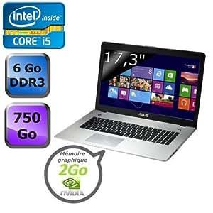"""Asus N76VB-T5098H 17.3 """" HDD 750 Go RAM 6144 Mo Windows 8"""
