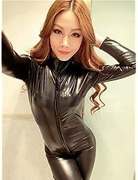 XSQR Latex Costume Carnevale Halloween Travestimento Catwoman di Batman  Film Sexy Donna Body Tuta Stretti bc30a4fbee26