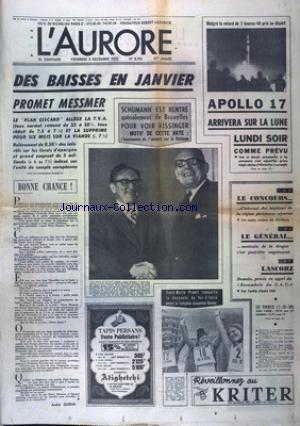 AURORE (L') [No 8793] du 08/12/1972