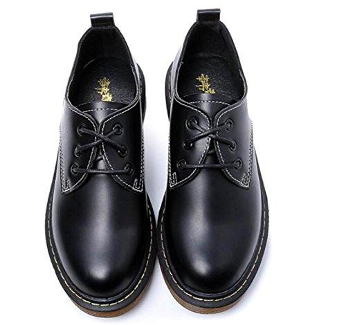 Mme printemps et chaussures d'automne avec des bottes en dentelle épais femmes bottes simples rivets bottes pointues féminins , black , US8 / EU39 / UK6 / CN39