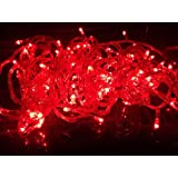 Riflection Decorative RED COLOR Rice Lights, 15 Metre Long