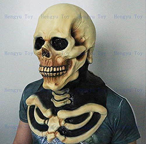 ASDCXZ Halloween Maske Full Head Awesome Skull Mask Atemberaubende Kostüm Realistische Halloween (Awesome Kostüm Für Erwachsene)
