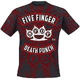 Five Finger Death Punch Eagle Burst T-Shirt schwarz/rot L