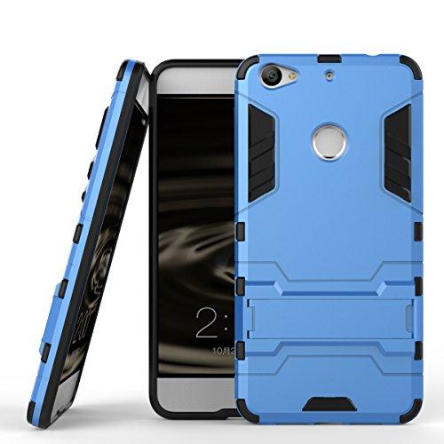 Qiaogle Telefon Case - Shockproof TPU + PC Hybrid Ständer Schutzhülle Case für Letv 1S/ LeTV X500/ LeTV LE1S/ Le 1S Helio X10 Turbo (5.5 Zoll) - HK01 / Hellblau