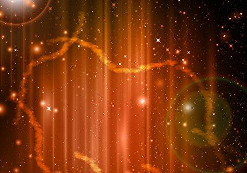 Fototapete Orangener Nebel 400cm Breit x 280cm Hoch Vlies Tapete Wandtapete Vliestapete Effekt Stoß auf Stoß - Modern Wanddeko, Wandbild, Fotogeschenke, Wand, Wandtapete, Dekoration, Wohnung