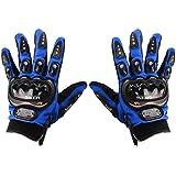 GUANTES TALLA 'XL' para MOTO con PROTECCIÓN BARATOS MOTOCROSS MOTOCICLETA QUAD ENDURO (Azul)