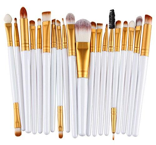 Bigood Pinceau Maquillage Professionnel 20PCS Brosses Cosmétique Beauté Outils