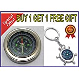 Directional Magnetic Compass use of Fengshui / Hiking / Camping / Office. - ( Buy 1 Get 1 Free Directional Compass Keychain - Offer Limited )