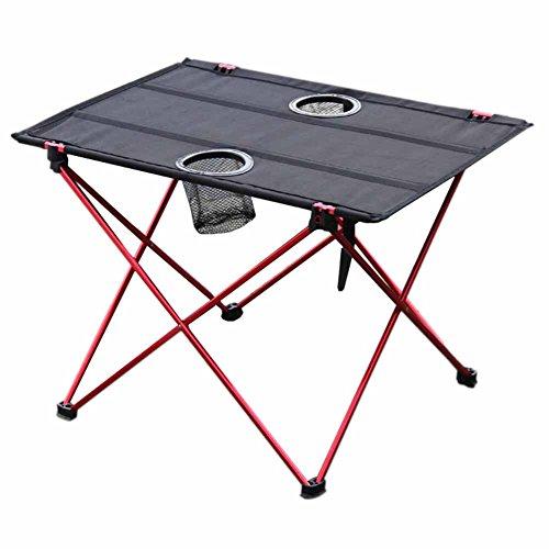 iBaste Ultraleicht Klapptisch Aluminium Campingtisch Klappbar Folding Table Camping Mini Gartentisch 56cmx42cmx37cm für Garten Picknick Buffettisch Grill Angeln im Tasche Tragbar