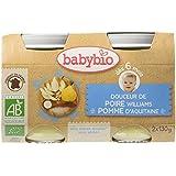 Babybio Pots Douceur de Poire Williams/Pomme d'Aquitaine 260 g -