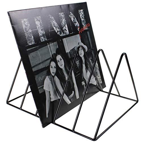 Record-Happy Vinyl-Plattenständer - Premium Vinyl beschichtetes Metalldraht-Regal hält bis zu 50 Album-Lps - einfaches, funktionales und modernes Display Konzept für 30,5 cm Schallplatten -