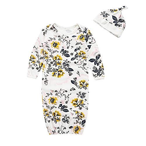 Tragbare Babydecke Set Langarm Decke Kit Neugeborenes Baby Blumendruck Dusche Swaddle mit Schlafmütze erhalten Carters Microfleece Set