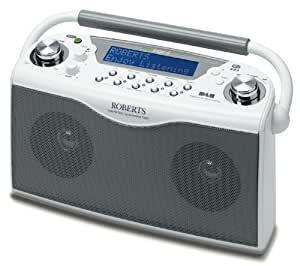Roberts ECO4W Ecologic 4 DAB/FM RDS Digital Stereo Radio wth up to 150 Hours Battery Life - White