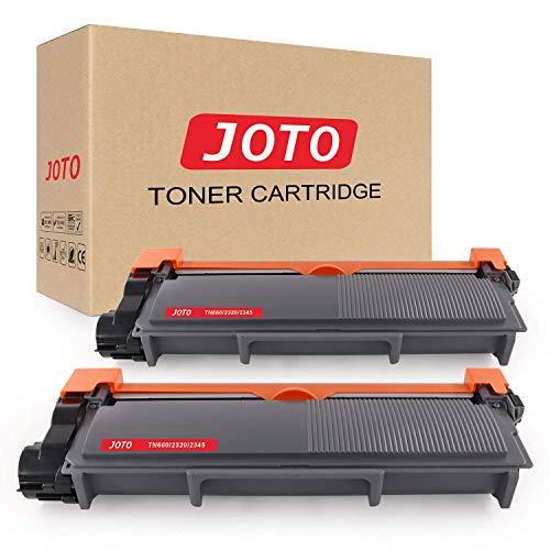 JOTO TN2320 Toner per Brother TN2320 TN-2320 (2 Nero) Compatibile con Brother DCP-L2500D MFC-L2700DW MFC-L2740DW MFC-L2720DW HL-L2360DN HL-L2300D HL-L2340DW HL-L2380DW HL-L2360DW HL-L2320D