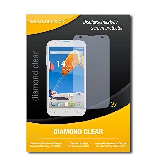 SWIDO 3 x Schutzfolie MobiWire Taima Bildschirmschutz Folie DiamondClear unsichtbar