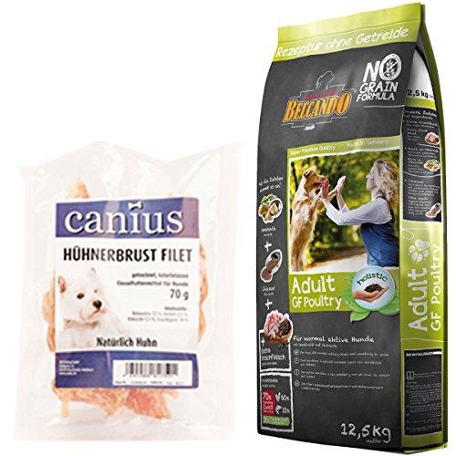 Belcando 12,5 kg Adult GF Poultry + 70 g Canius Hühnerbrust Filet