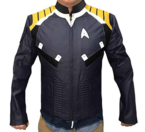 Classyak Herren Lederjacke Star Captain Style Kirk Gr. XX-Large, Sheep Leather Black