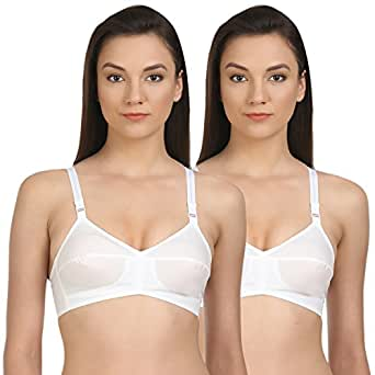 3e7357a505 BODYCARE Pack of 2 B-C-D Cup Bra with Cotton Straps in White Color ...