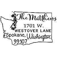 Stamp Washington State Map personalizzati per indirizzo Stamp auto inchiostrazione (Francobolli Washington)