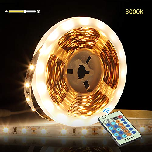 InnooLight 5m LED Strip 300 LEDs Selbstklebend SMD 2835 LED Lichterkette mit 24-Tasten Fernbedienung, warmweiss led band als LED Streifen, LED Leiste, LED Lichtschlauch, LED Stripes