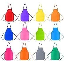 Pllieay 12 pezzi 12 colori dei bambini artisti grembiuli tessuto per cucina e7c0ebfd7dfe