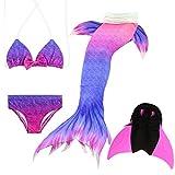 Das beste Mädchen Bikini Badeanzüge Schönere Meerjungfrauenschwanz Zum Schwimmen mit Meerjungfrau Flosse Schwimmen Kostüm Schwanzflosse - Ein Mädchentraum- Gr. 150, Farbe: A11(2)