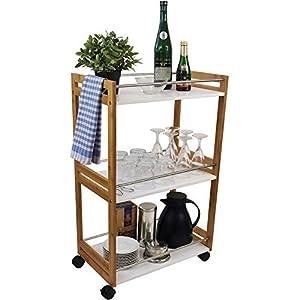servierwagen mit rollen deine. Black Bedroom Furniture Sets. Home Design Ideas