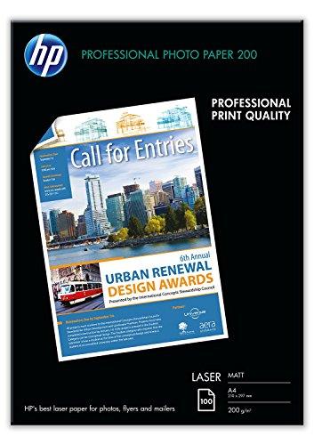 fotopapier matt a4 HP Q6550A Professional Laser-Fotopapier matt (beidseitig beschichtet) 200g/m2 A4 100 Blatt, weiß