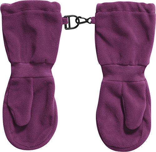 Playshoes Kinder Fleece-Fäustlinge mit Klettverschluss super weiche Unisex Winter-Handschuhe