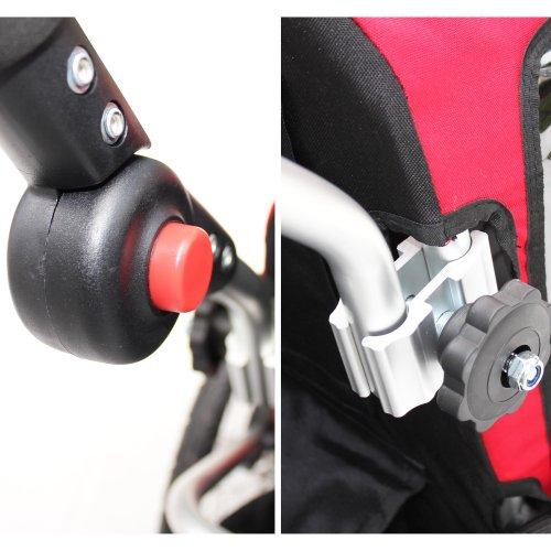 Kinderanhänger Red Loon RB10001 ALU-Light + Jogger für 2 Kinder - 6