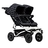 Mountain Buggy Duet Buggy V3 - Silla de paseo doble con ruedas, color gris