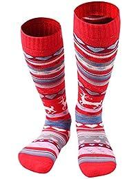 Gogokids Calcetines de Esquí para Niñas Niños Invierno Térmico Largo Acolchado
