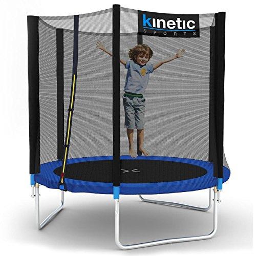 Kinetic Sports Outdoor Trampolin TPLH06 Gartentrampolin für Kinder und Erwachsene mit Randabdeckung und Sicherheitsnetz Ø 183 cm